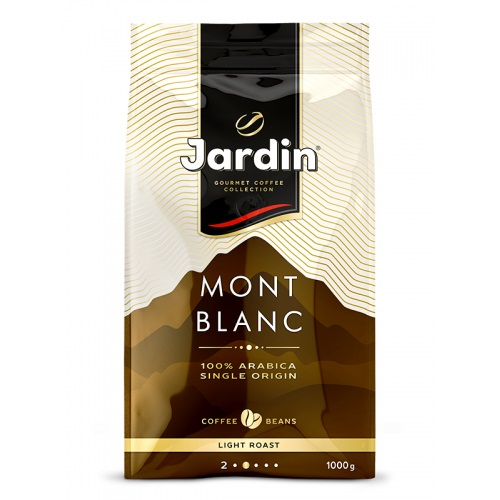 "Cafea boabe ""Jardin"" Mont Blanc, ambalaj moale, 1000 gr."